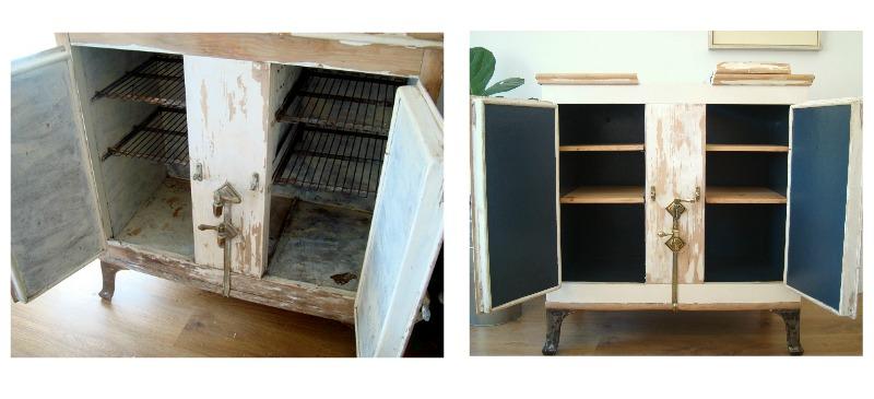 Muebles efecto decapado original. almacenaje vintage