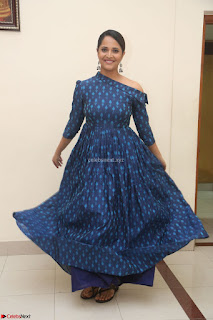 Anchor Anasuya in a Blue Gown at Jai Lava Kusa Trailer Launch ~  Exclusive Celebrities Galleries 032.JPG