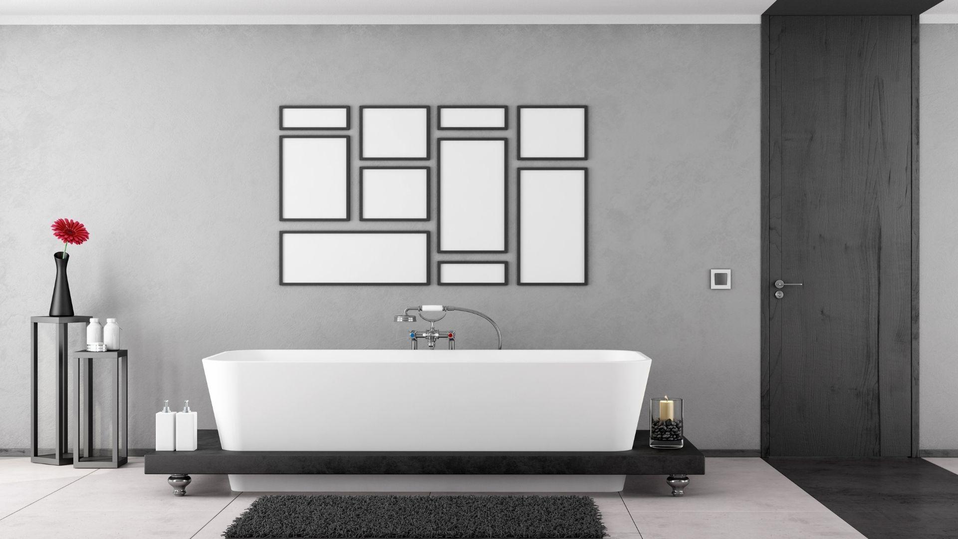 galeria ścienna w łazience