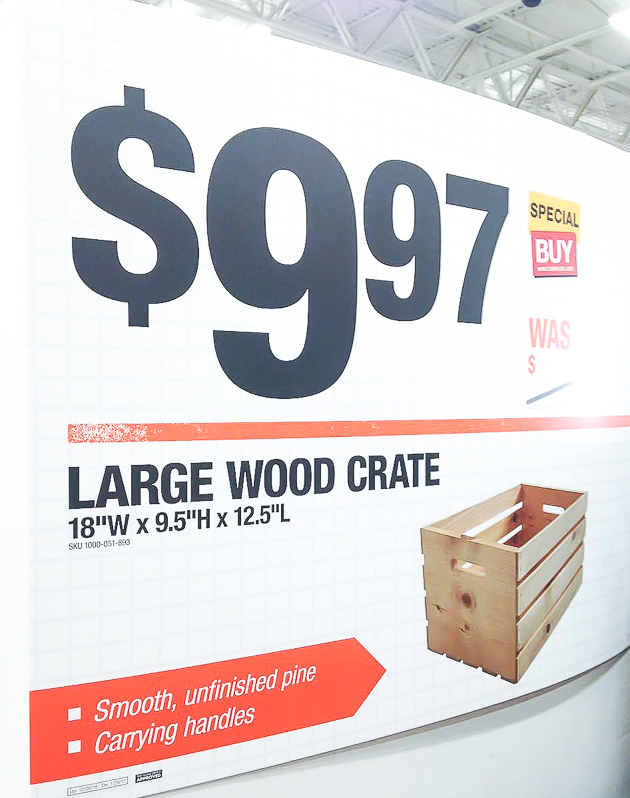 Price of large crates