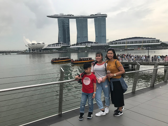 With my kids in Singapore