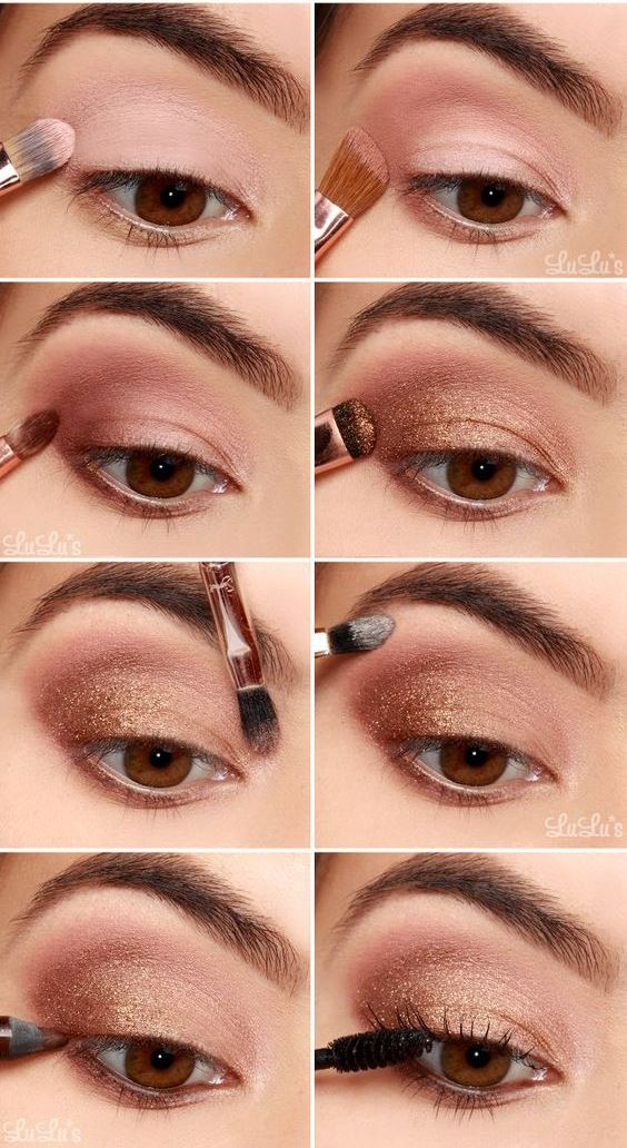 trendy bronzed eyes makeup