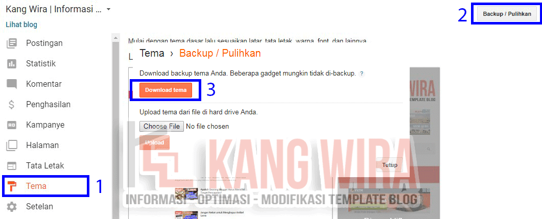 Tips Backup Template Blog
