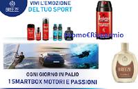 Logo Intesa e Breeze ''Vivi l'emozione del tuo sport'' e vinci 15 cofanetti Motori e Passioni e voucher TicketOne da 600€