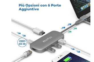 Oggi a prezzo ridotto il magnifico HUB USB Type C con prese HDMI e Ethernet!