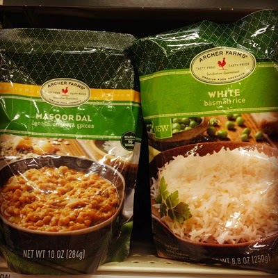 Vegetarian Vegan Food Groceries at Target Ready to Eat Instant Archer Farms Masoor Dal and White Basmati Rice