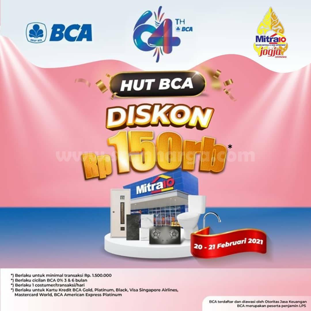 MITRA10 Promo HUT BCA 64 – Dapatkan DISKON Langsung Rp 150.000