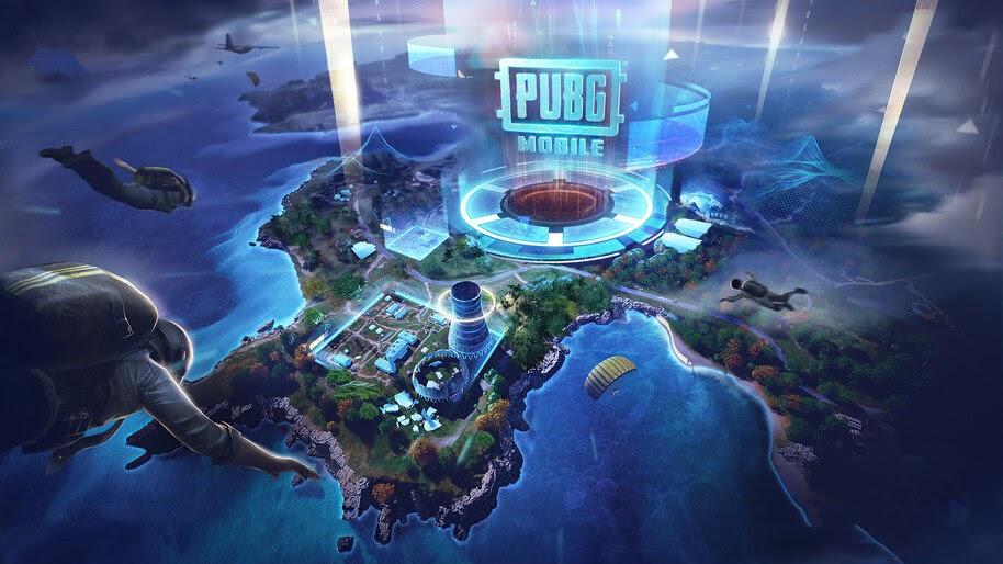 PUBG, Mobile, Skydiving, Map, Drop Zone, 4K, #3.2778