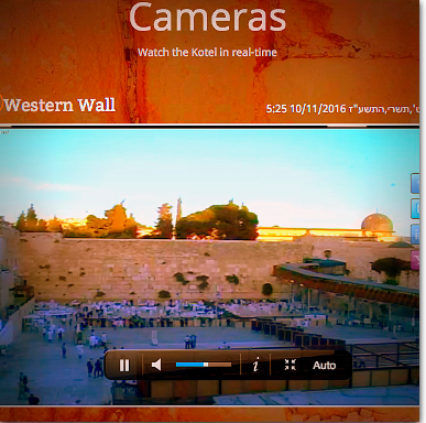 Western Wall & More. Live CAMS!