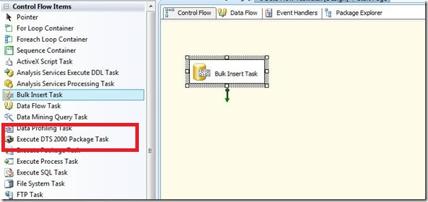 How to Run DTS in SSIS
