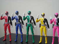 SH Figuarts Dekarangers Bandai Tamashii Nations Red Blue Green Yellow Pink