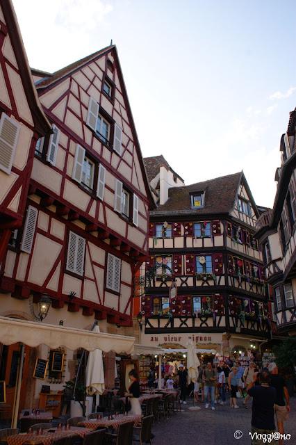 Il centro di Colmar con le sue case a graticcio