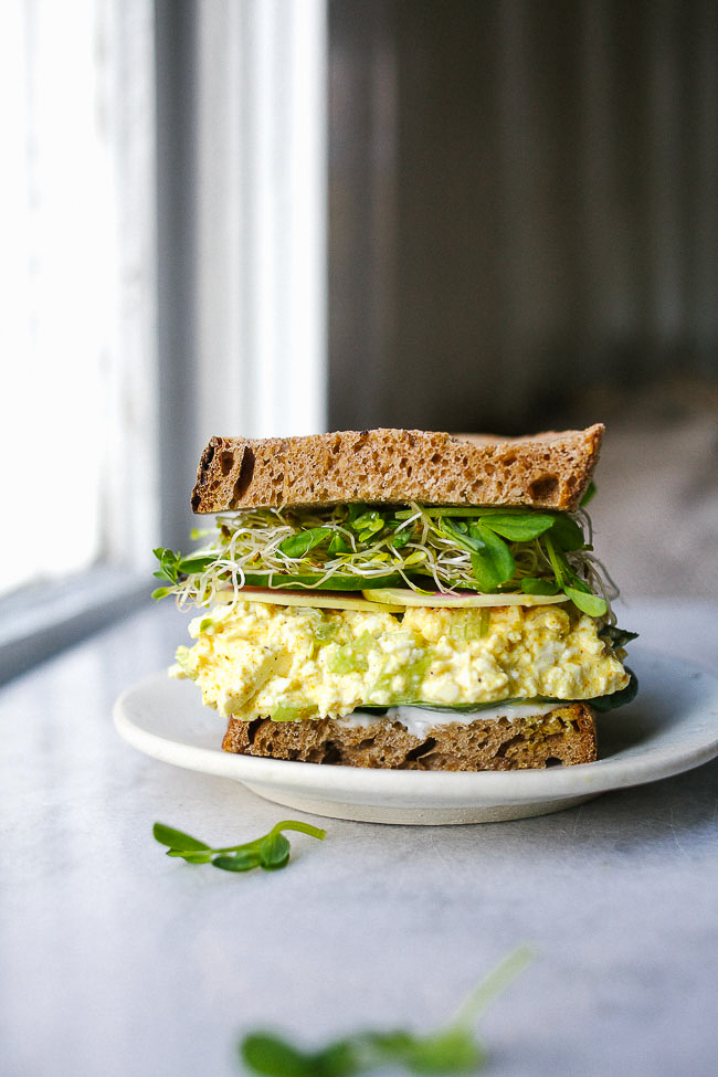 Springy Tofu Salad Sandwich