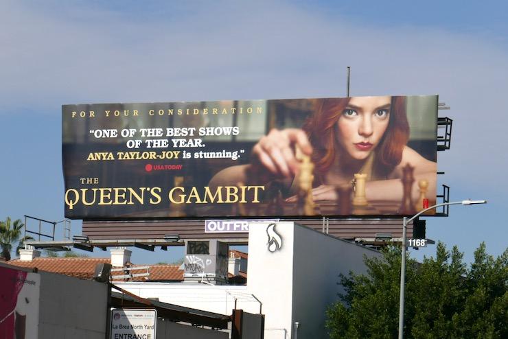 Queens Gambit consideration billboard