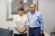 RECIBE El GOBERNADOR HÉCTOR ASTUDILLO A LA SENADORA NESTORA SALGADO EN PALACIO DE GOBIERNO