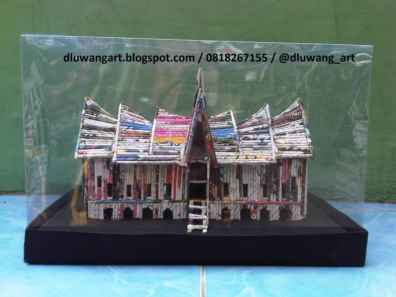DluwangArt Kerajinan Kertas Koran Bekas: Produk Miniatur