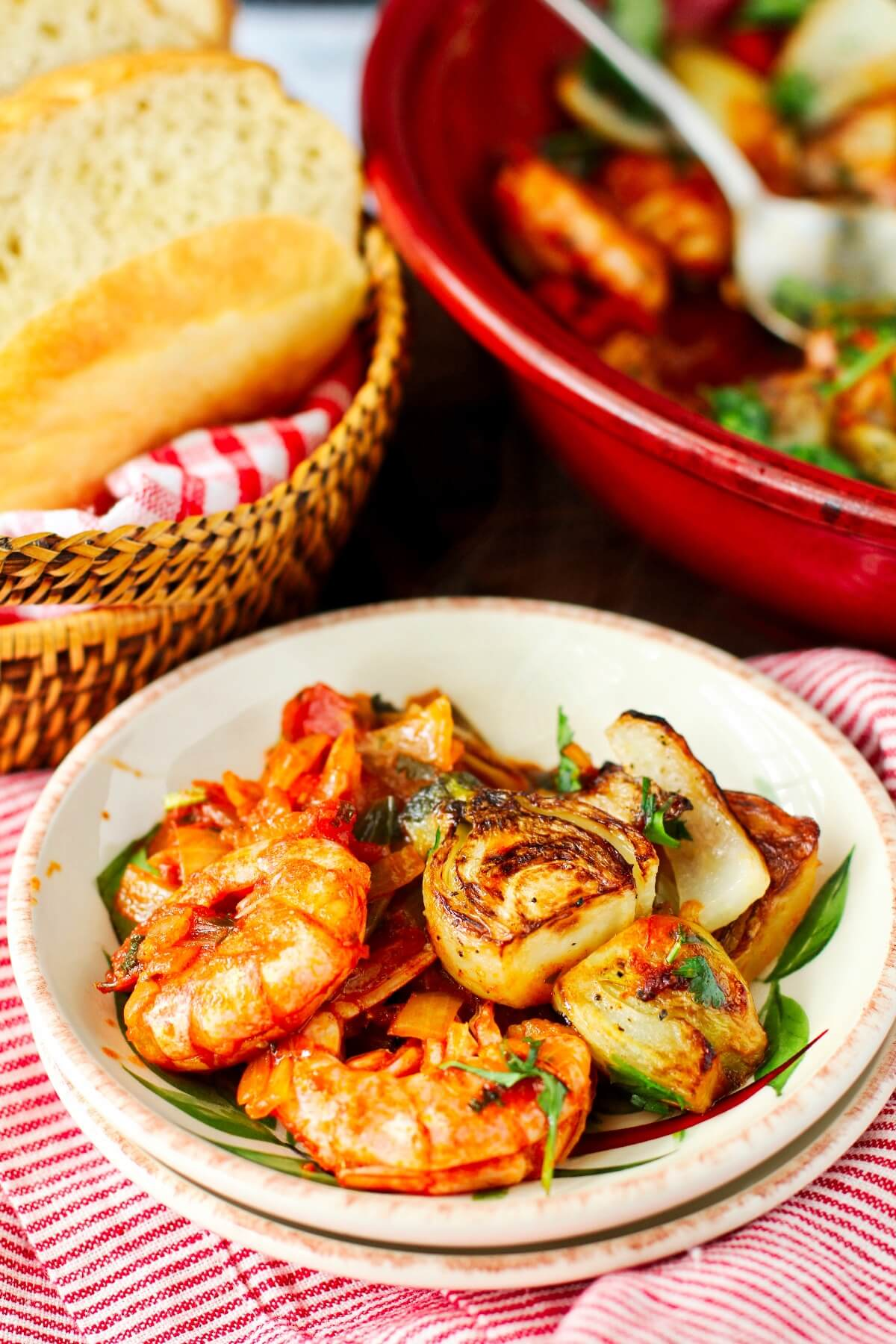 Moroccan Shrimp Tagine with Fennel