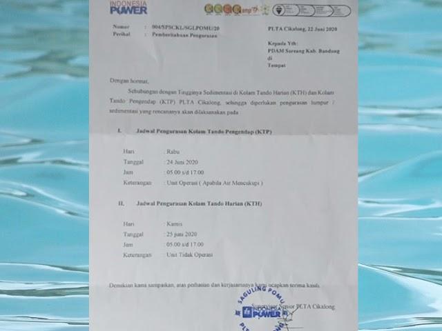 Pada 24 - 25 Juni 2020, Distribusi Air PDAM Tirta Raharja Akan Terganggu di Sebagian Wilayah Ini
