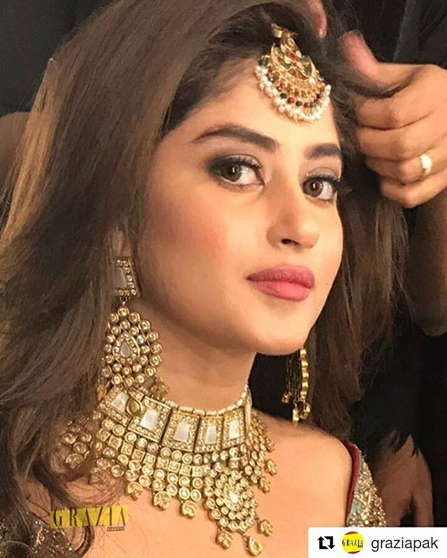 Beautiful Sajal Aly spotted backstage in HamnaAmir at the bcw