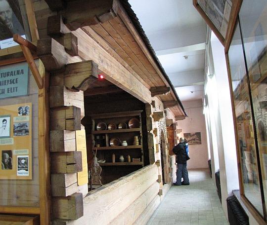 Chata góralska wewnątrz muzeum