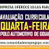 AVALIAÇÃO CURRICULAR NESSA QUARTA-FEIRA PARA O POLO AUTOMOTIVO DE GOIANA