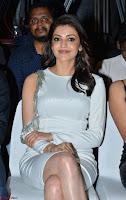 Beautiful Smiling Kajal Aggarwal in Creamy White Gown at MLA Telugu Movie Success Meet ~ .com Exclusive Pics 012.jpg