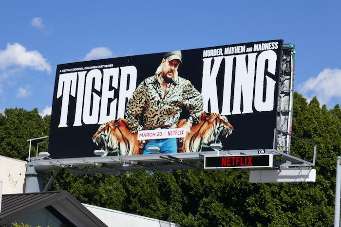 Tiger King series premiere billboard