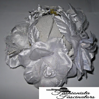 white rose wedding fascinator hat
