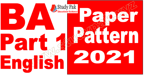BA associate degree part 1 English Paper pattern 2021 PU