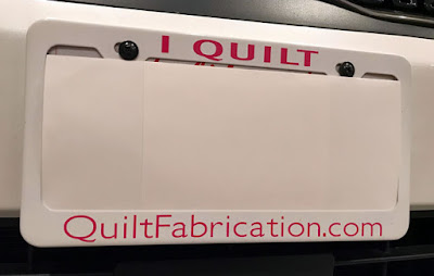 QuiltFabrication.com license frame
