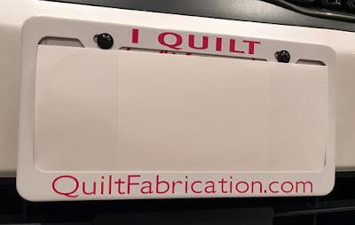 QuiltFabrication.com license frame