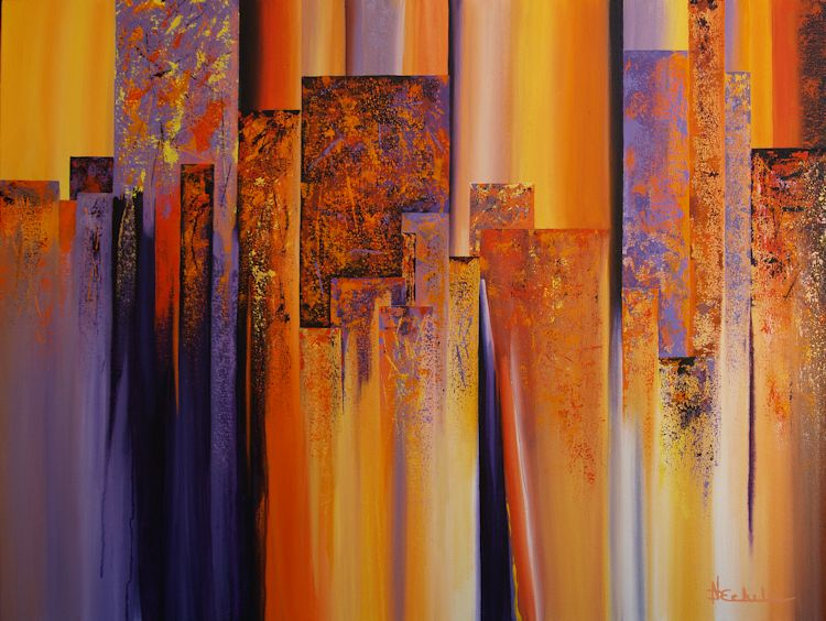 Daily Painters Abstract Gallery: Urban Prism by Nancy ...