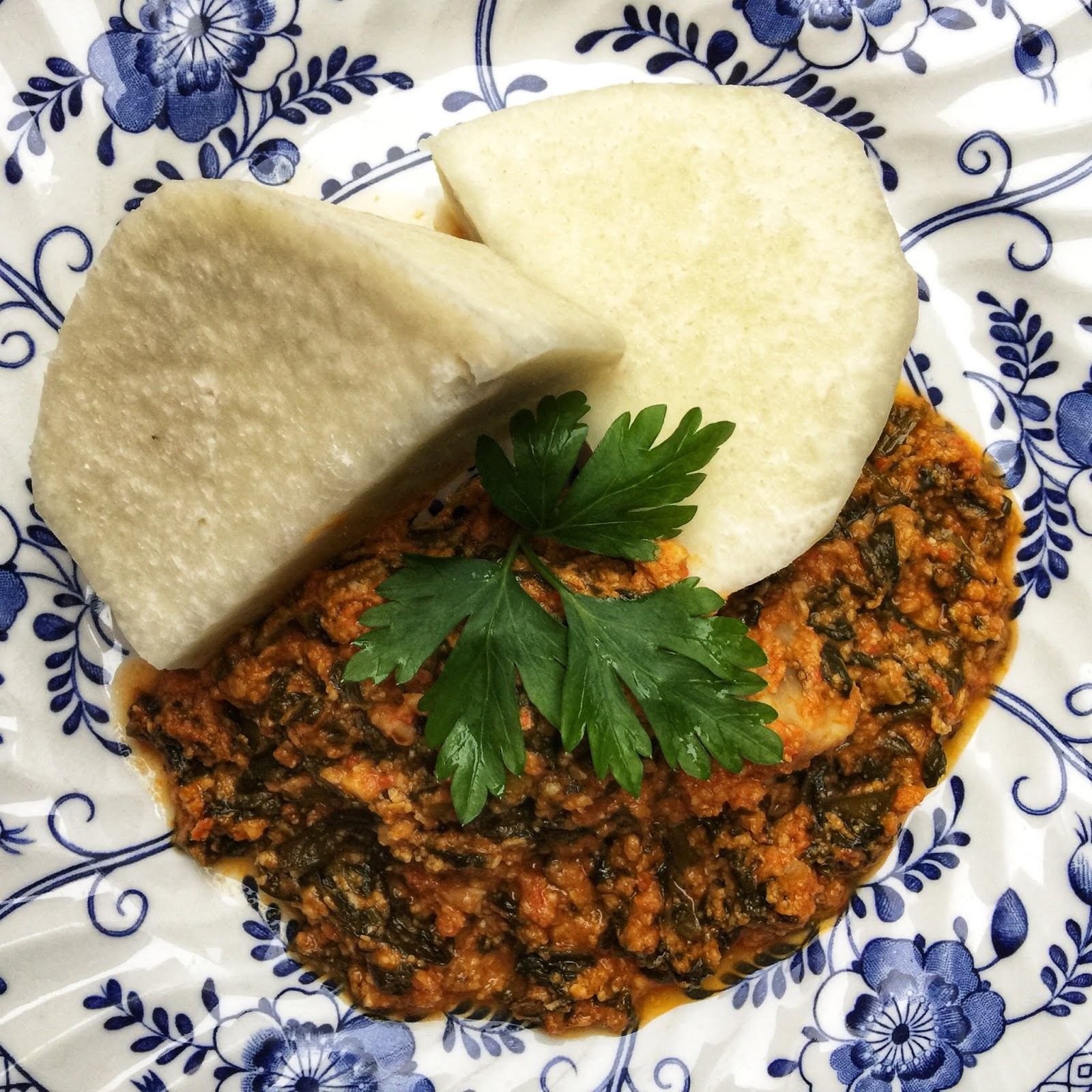 The Vegan Nigerian Iyan And Egusi Soup Yam And Egusi