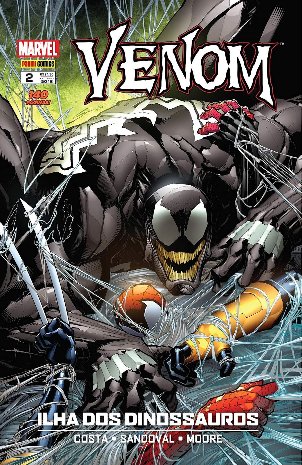 Capa do encadernado Venom #2 por Gerardo Sandoval.