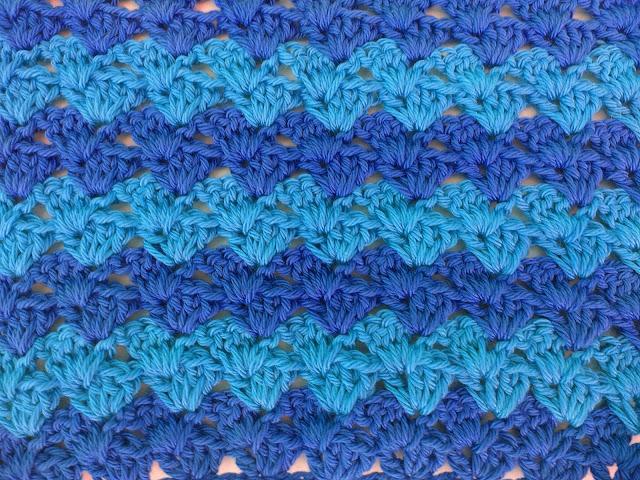 5 - Crochet Imagen Puntada a crochet a facil sencillo bareta paso a paso DIY puntada punto alto punto bajo