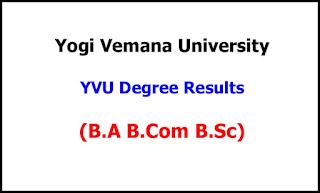 YVU Degree Exam Results 2021