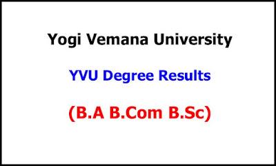 YVU Degree Exam Results