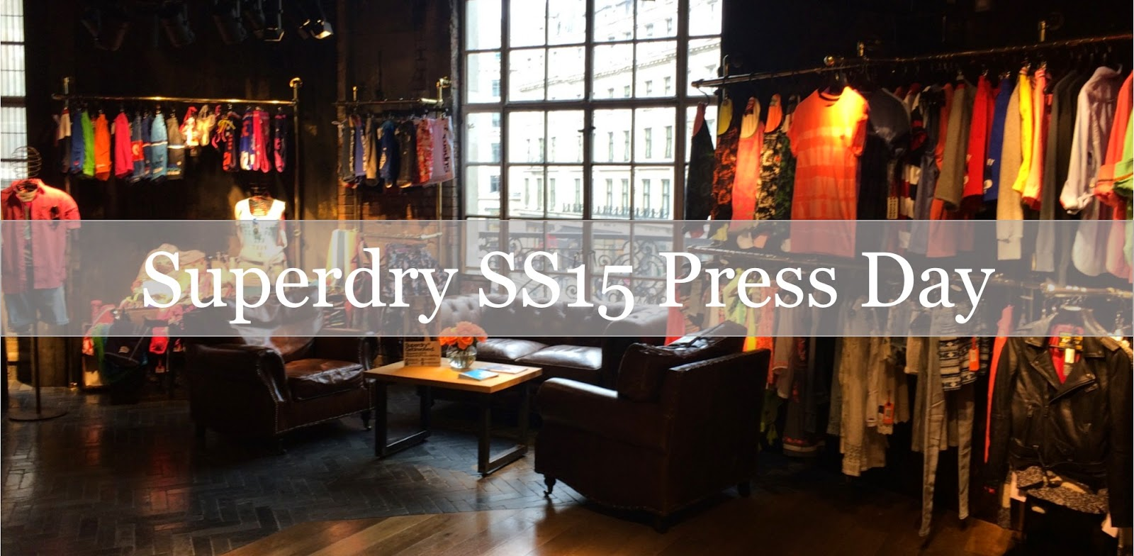 clothes at superdry press day