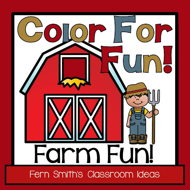 Updated Farm and Farm Animals Coloring Pages for Home and School at TeachersPayTeachers. Download it again for double the pages! Fern Smith's Classroom Ideas