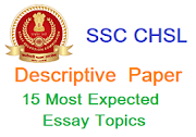 15 Most Important Essay Topics for SSC CHSL 2019 Descriptive Paper   Essay for SSC CHSL Tier 2