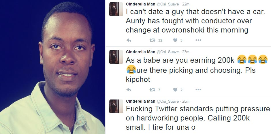 Earning 200k per month not OK for marriage? Guy blasts Nigerian girls