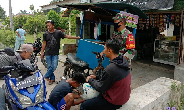Cegah Penyebaran Covid-19 Diwilayah Binaan, Personel Jajaran Kodim 0207/Simalungun Laksanakan Razia