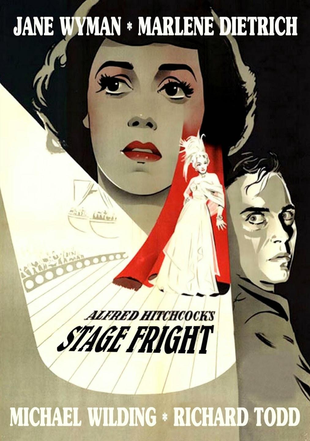 Η αφίσα της ταινίας Stage Fright του Χίτσκοκ