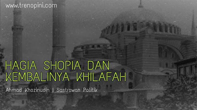 """Hagia Sophia secara harfiah maknanya  """"Kebijaksanaan Suci"""". Hagia Sophia adalah sebuah bangunan bekas basilika, difungsikan menjadi masjid pada masa penaklukan Konstantinopel, disekulerkan dan difungsikan sebagai Museum oleh Mustafa Kamal La'natullah pasca keruntuhan kekhilafahan Turki Usmani. Hagia Sophia terletak di Istanbul, Turki."""