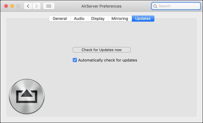 تحديث AirServer نواة التمديد