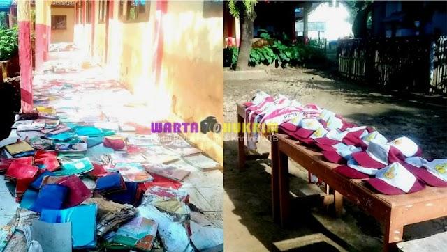Terendam Banjir, Ribuan Buku dan Seragam Siswa SDN Inpres Tangga Dua Rusak