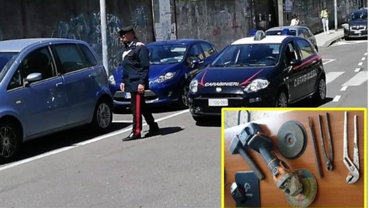 Acireale Carabinieri furto catalizzatore