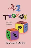 portada del libro de relatos cortos 42 trozos de amor y pasión