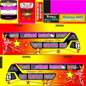 Livery Bussid Sumatera Sempati Star Kuning Bimasena SDD
