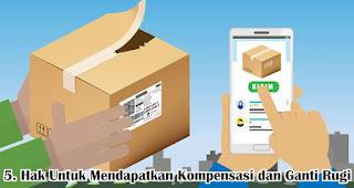 Hak Untuk Mendapatkan Kompensasi dan Ganti Rugi merupakan salah satu hak konsumen